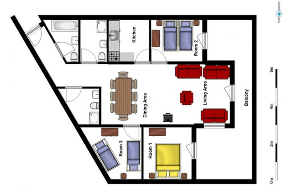 Floor plan of Chalet Verseau - ski chalet in Val Thorens, France