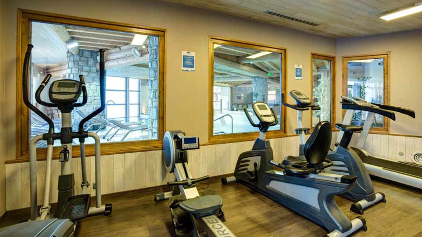 Chalet Abricot, Val Thorens, France, Gym in Wellness Area