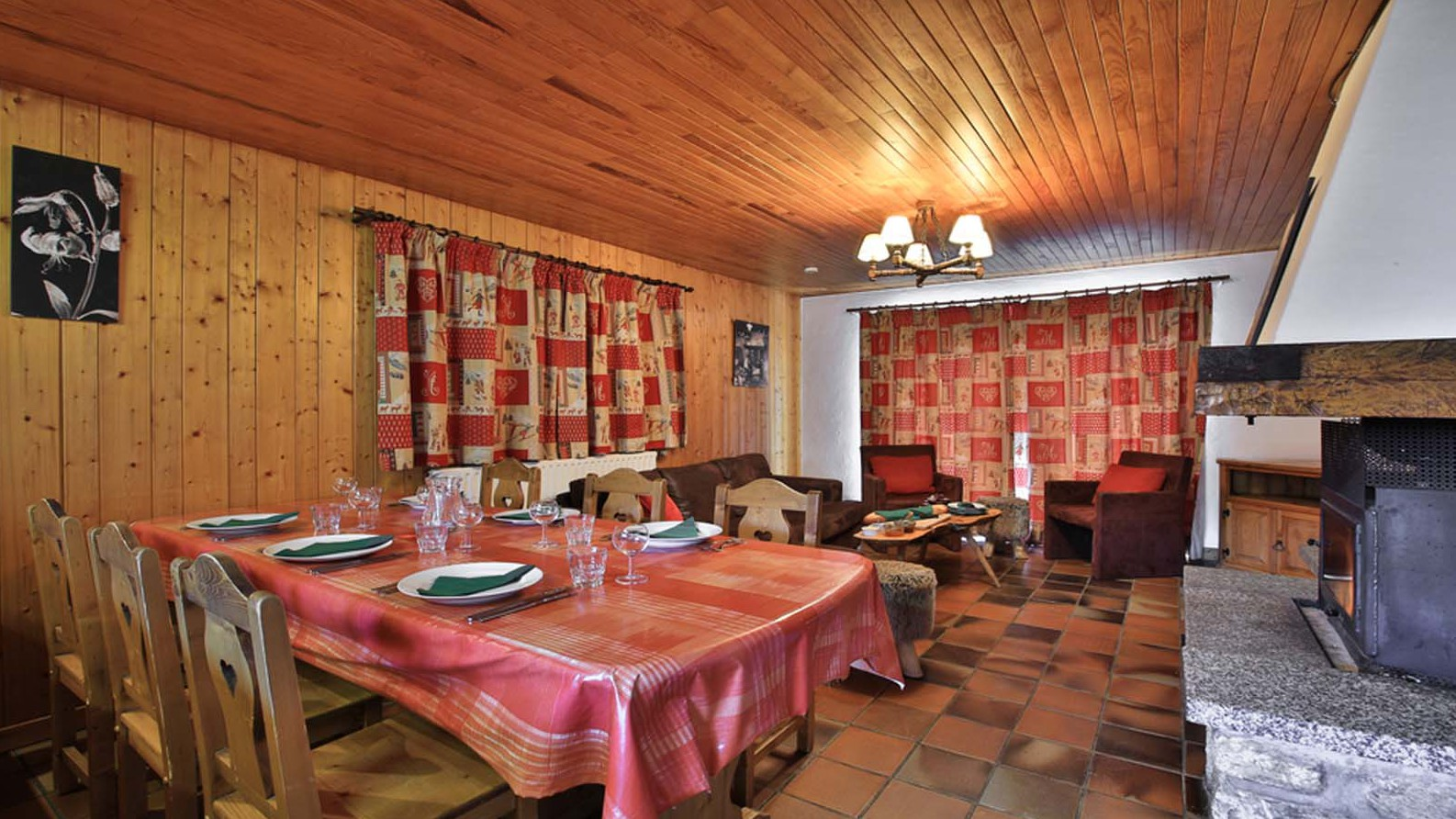 Dining , Chalet Andre - ski chalet in Meribel, France