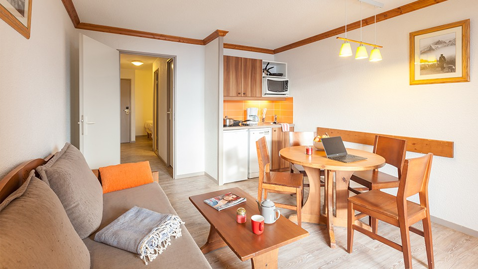 Apartment Interior, Residence Les Bergers, Alpe d'Huez, France
