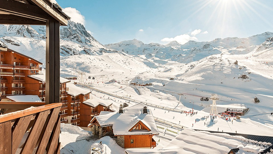 View from Residence Le Tikal, Val Thorens, France