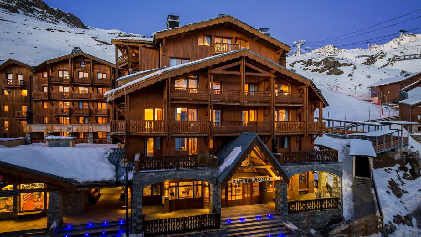Chalet Aries, Val Thorens, France, exterior of Val 2400 building