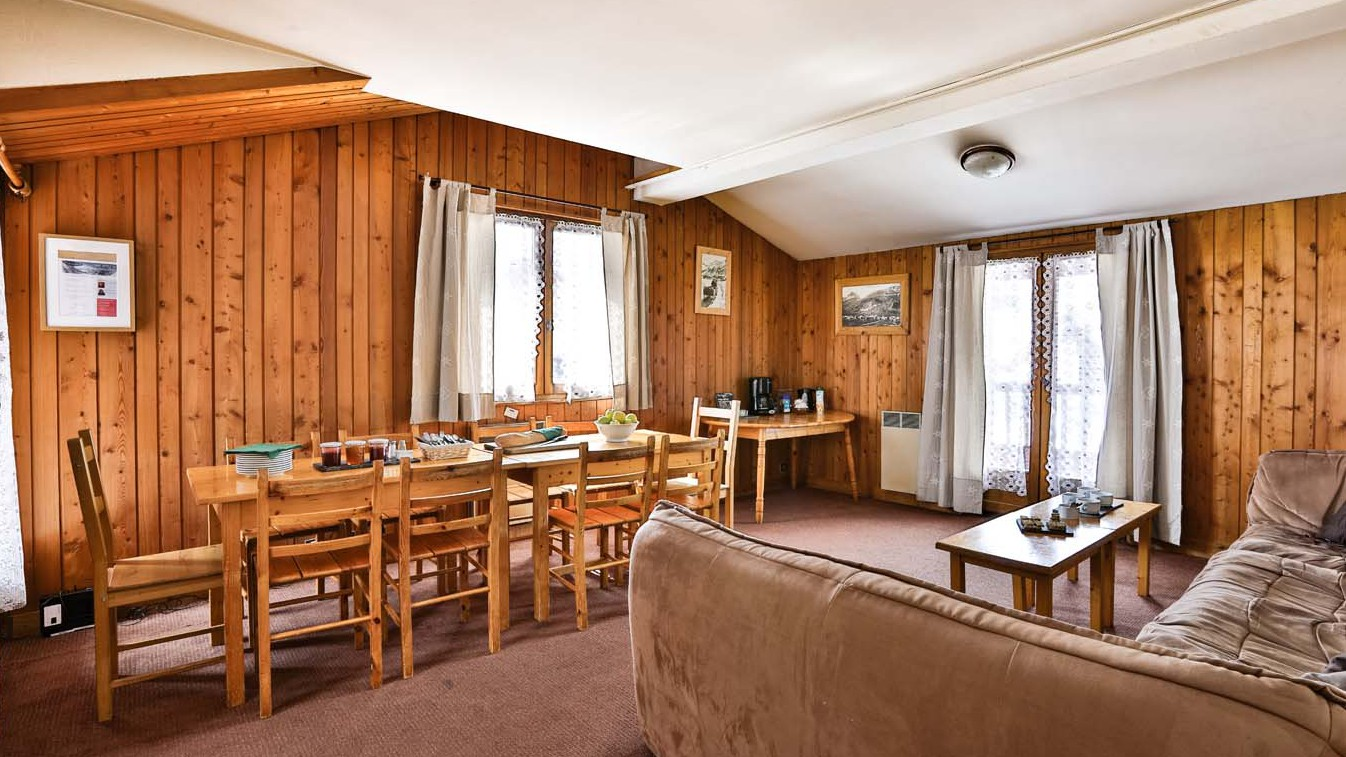 Living and Dining Area, Chalet Arsellaz, Val d'Isere, France