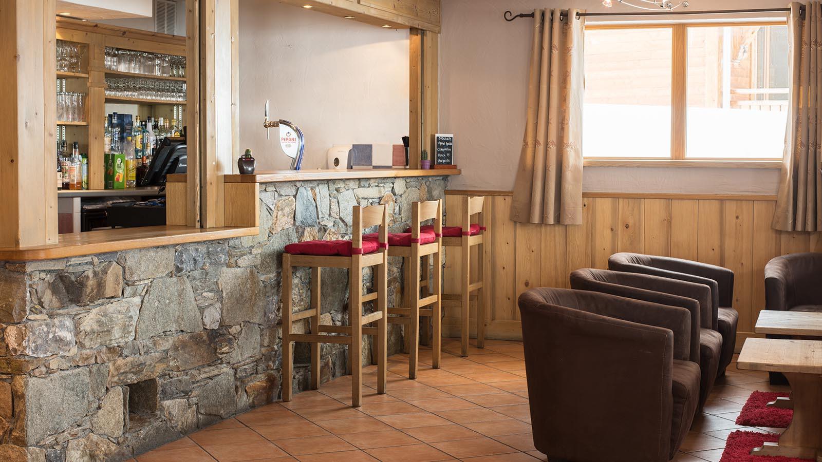 Bar in the Ski Lodge Aigle, Tignes, France