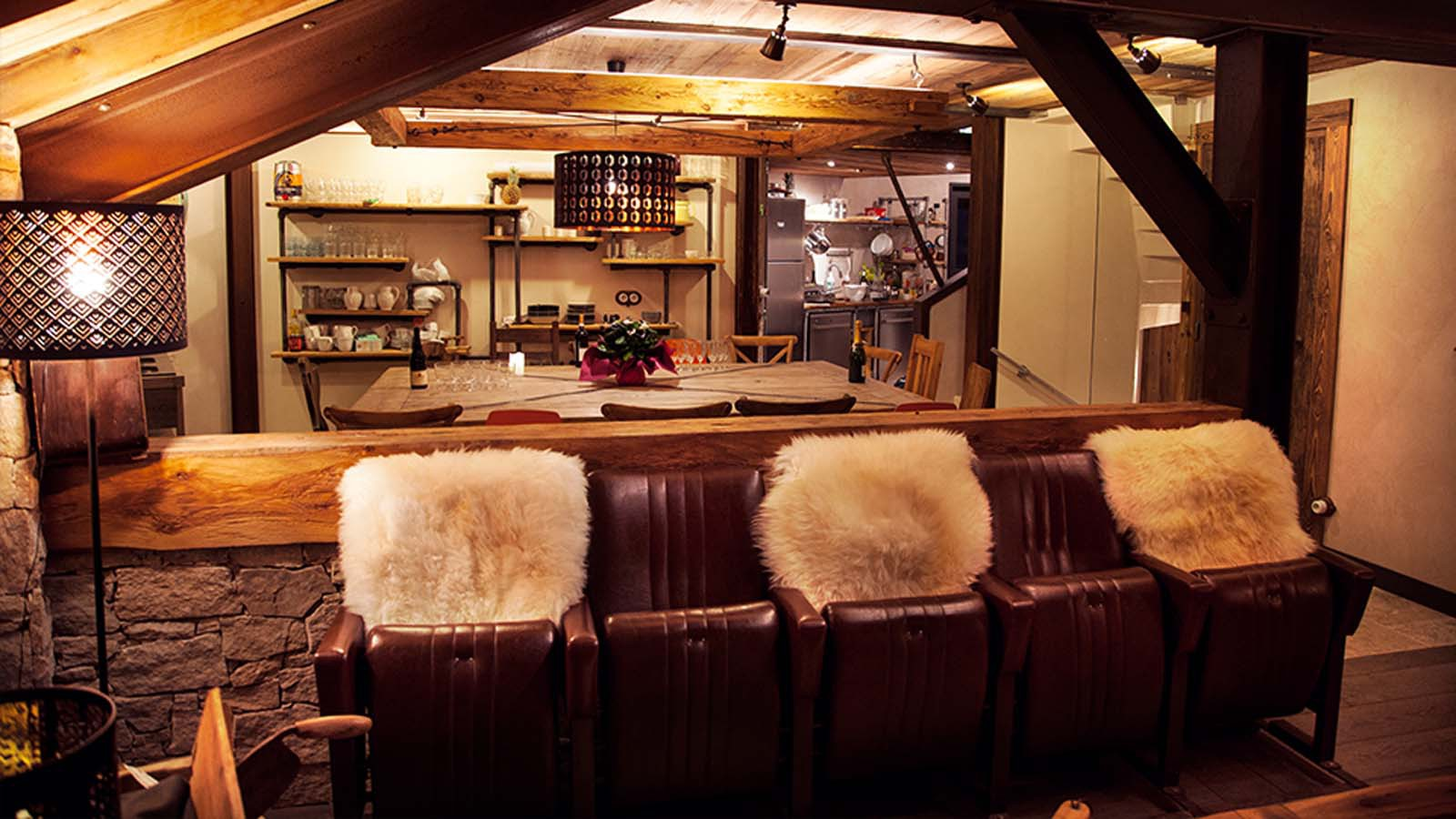 Seating Area, Chalet Benjamin, Courchevel, France