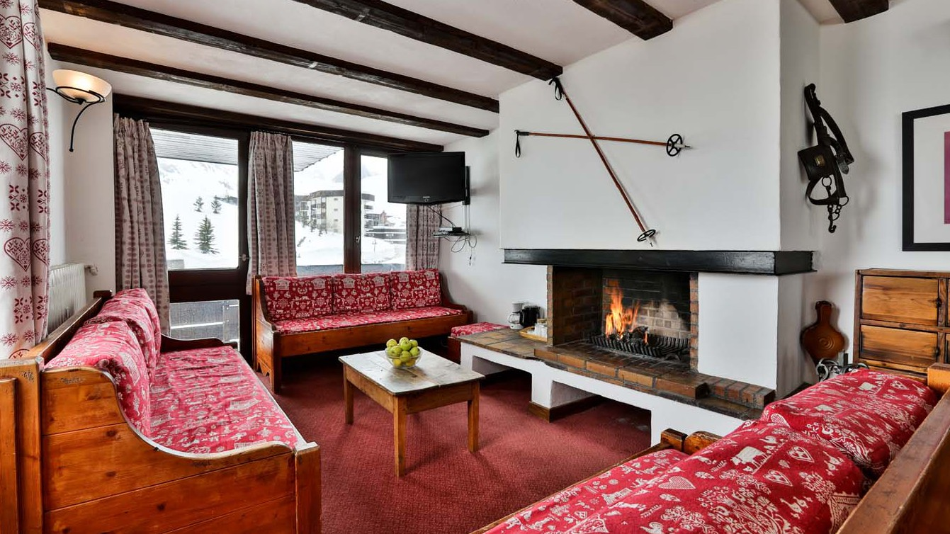 Living Area, Chalet Bouquetin, Tignes, France