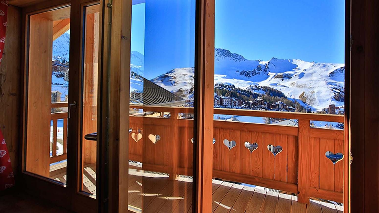 Balcony - Chalet Campanula - Ski Chalet in La Plagne, France