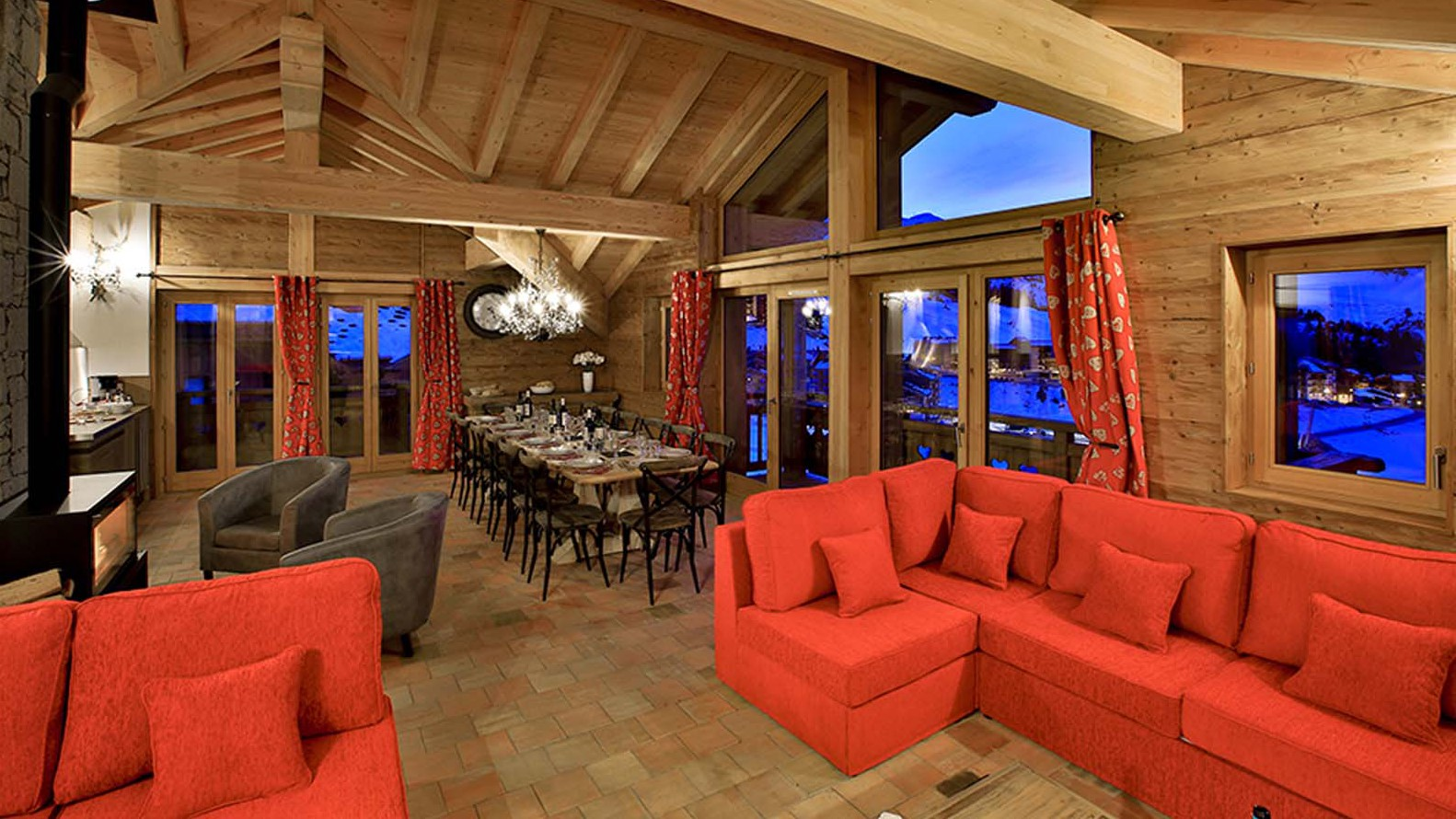Lounge - Chalet Campanula - Ski Chalet in La Plagne, France