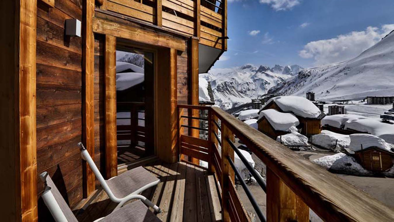 View from Chalet Carmen, Tignes, France