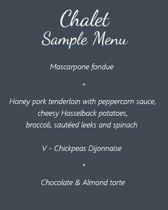 Chalet Sample Menu