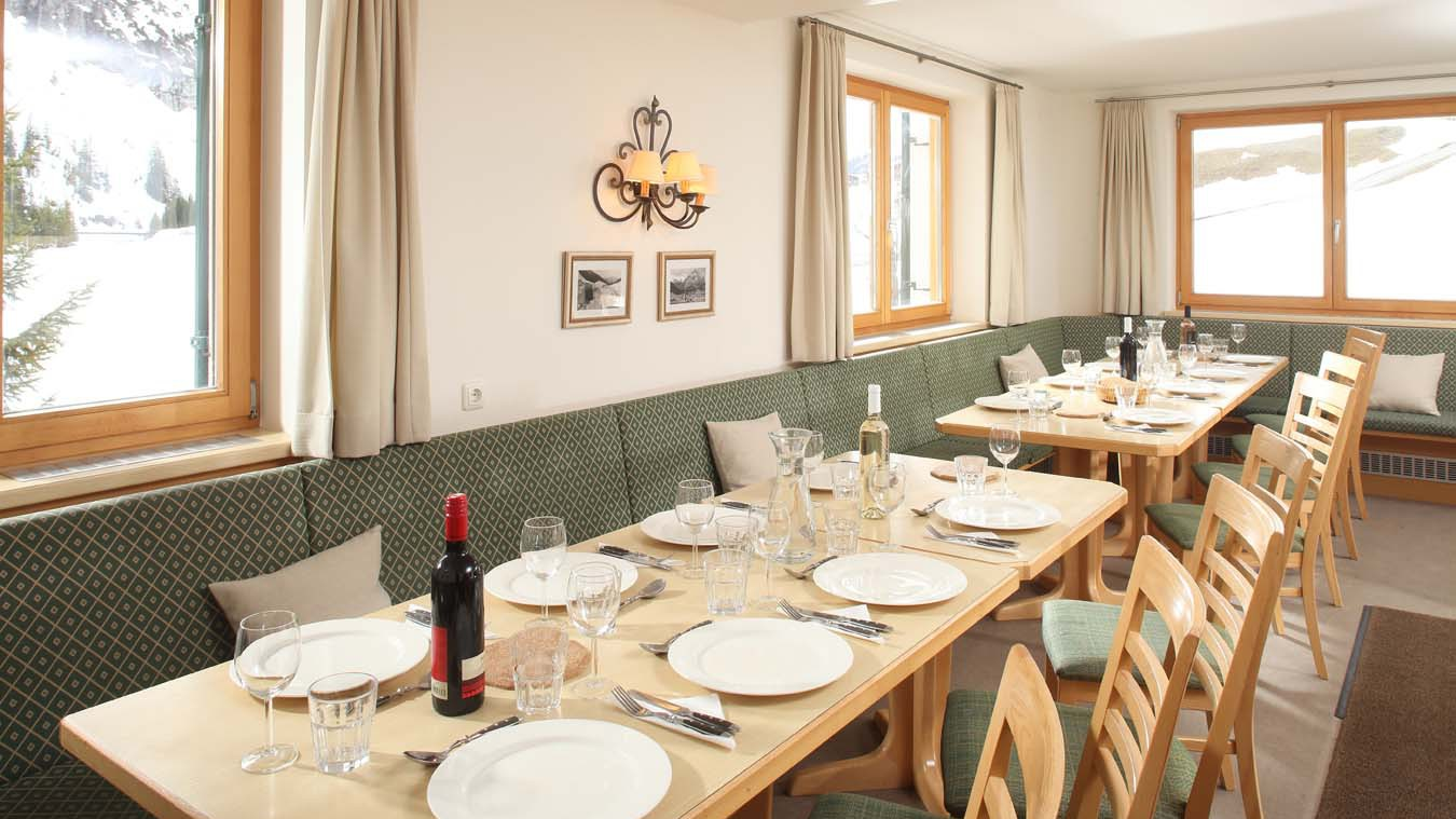 Chalet Alpenland, Chalet in Lech, Dining Room