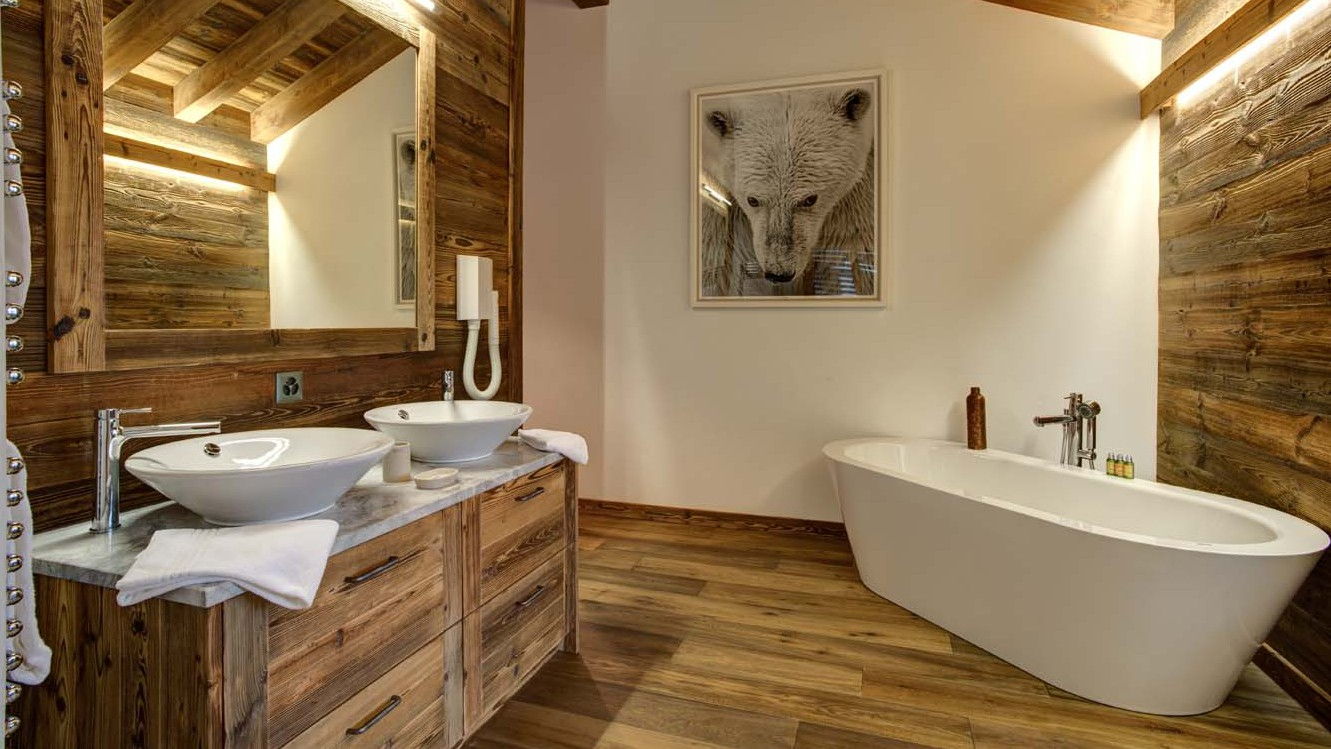 Bathroom, Chalet Altair, Nendaz, Switzerland