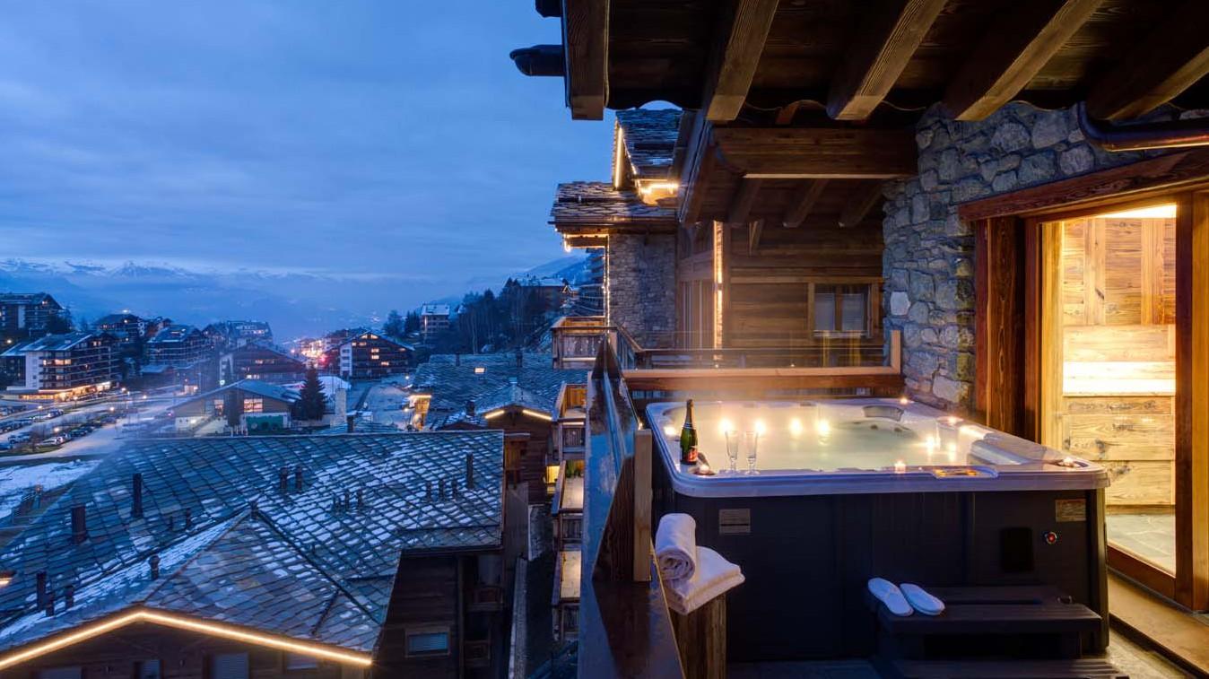 Hot Tub, Chalet Altair, Nendaz, Switzerland