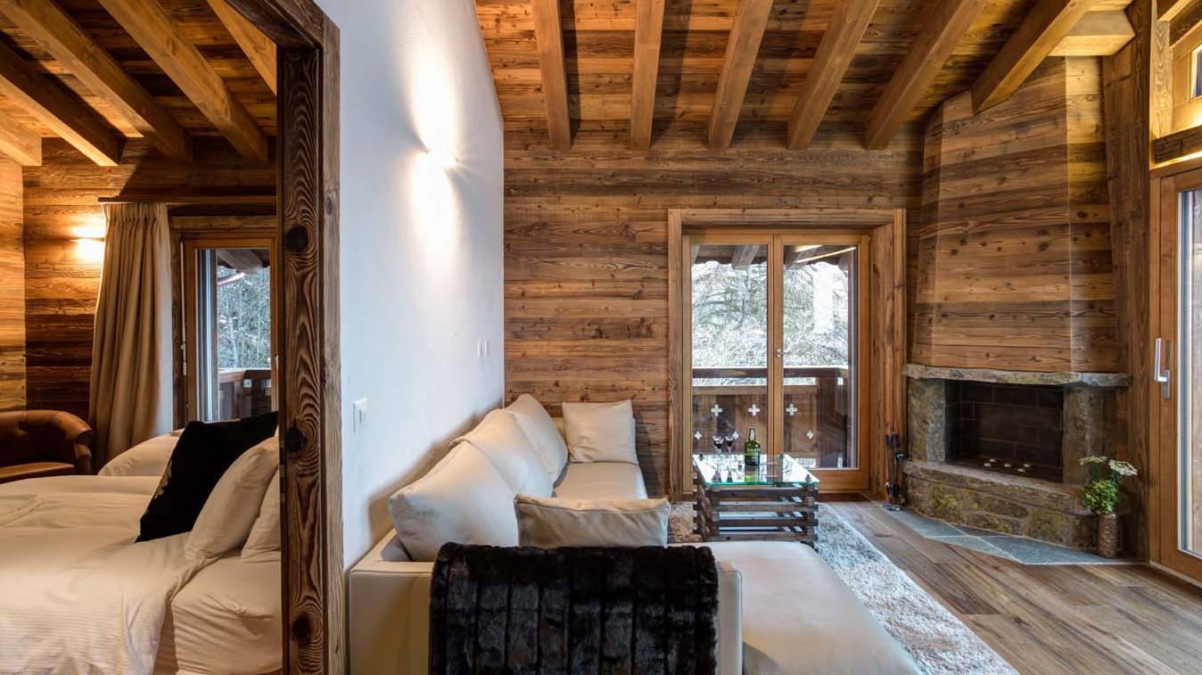 Upstairs living room, Chalet Altair, Nendaz, Switzerland