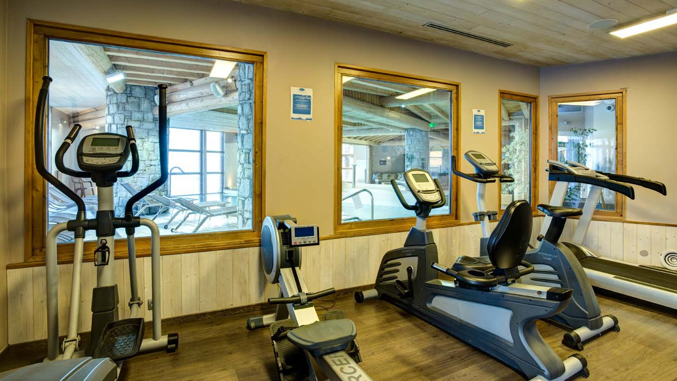 Chalet Clementine, Val Thorens, France, Gym Equipment in Complex