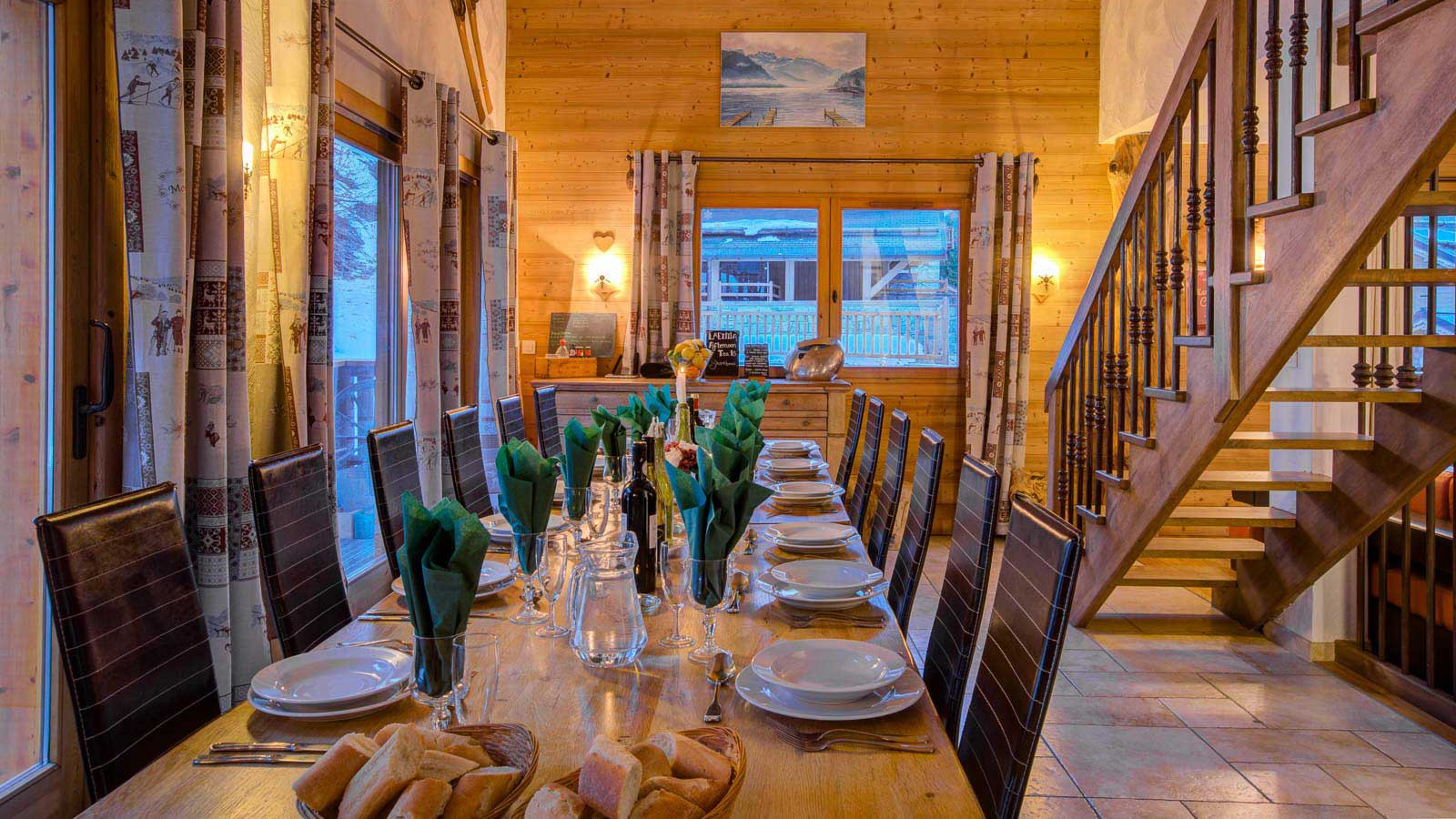 Chalet Laetitia, Meribel - Dining - Twilight