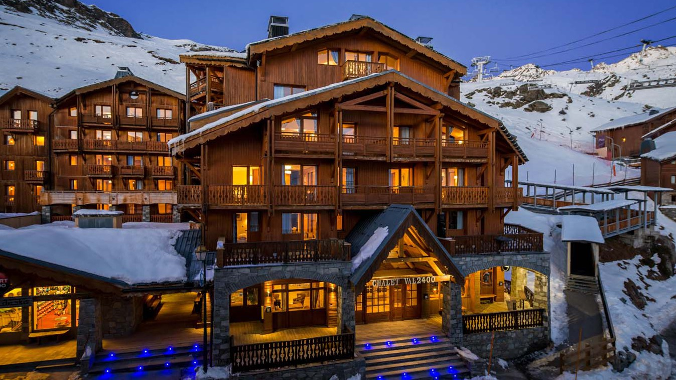 Exterior of Val 2400 building, Val Thorens, France