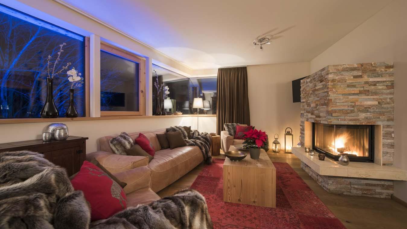 Living Area, Chalet Stratus, St. Anton, Austria