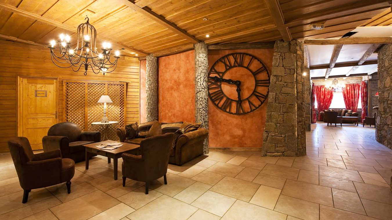 Reception area in Val 2400 building, Val Thorens, France