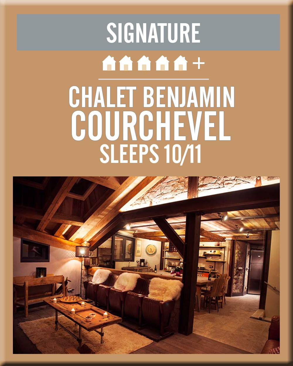 France chalet benjamin courchevel lounge area