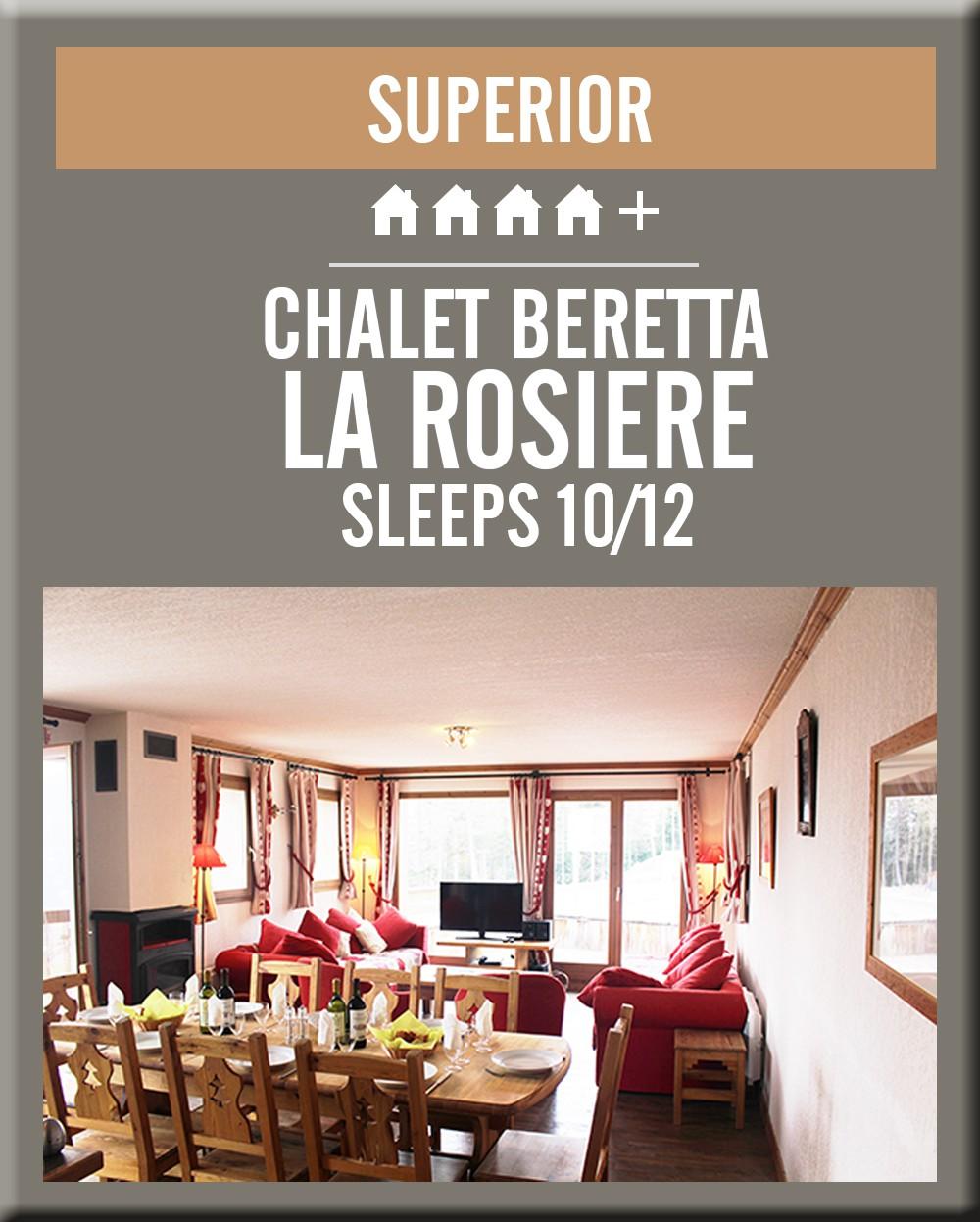 France chalet beretta la rosiere dining room