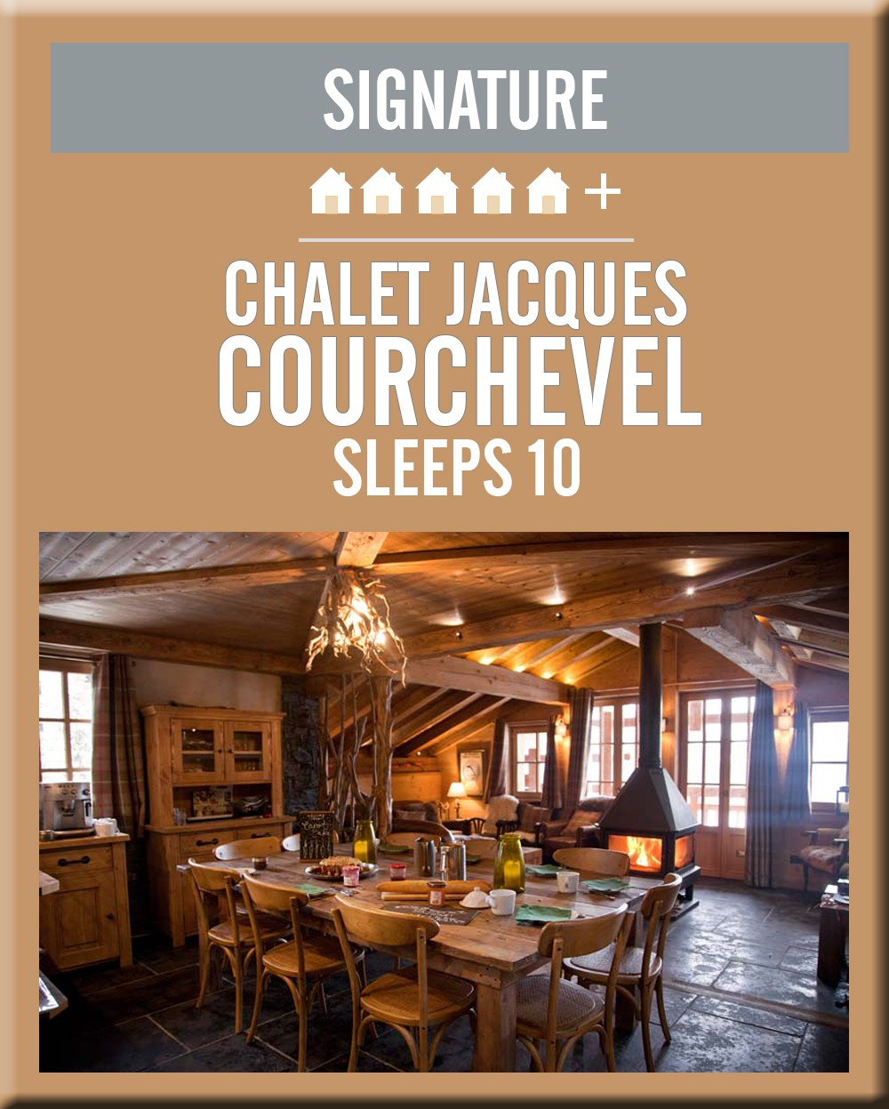 France chalet jacques courchevel dining area