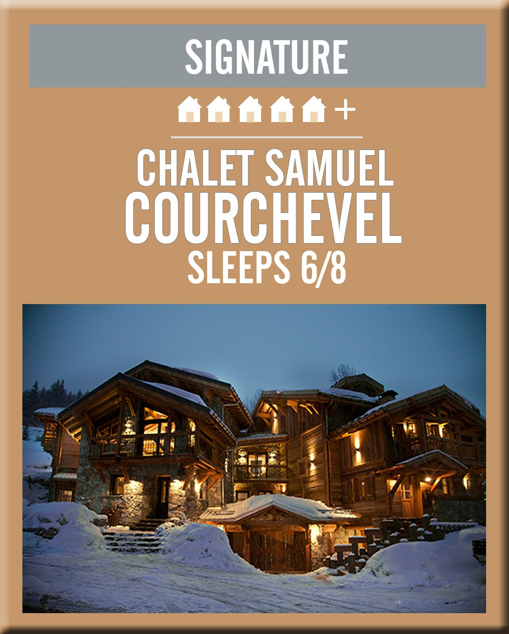 France chalet samuel courchevel exterior night