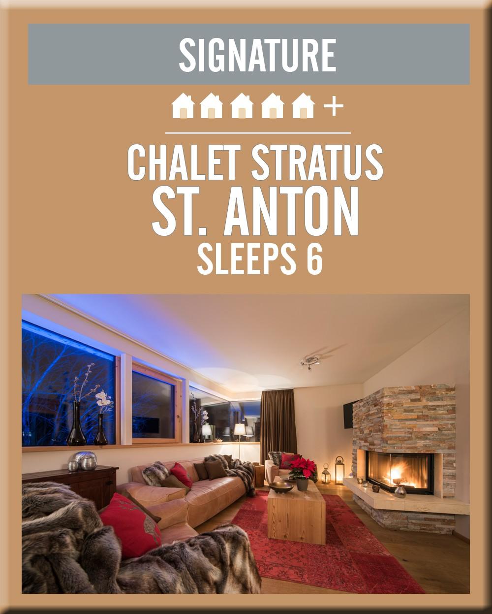 Austria chalet stratus st anton lounge area