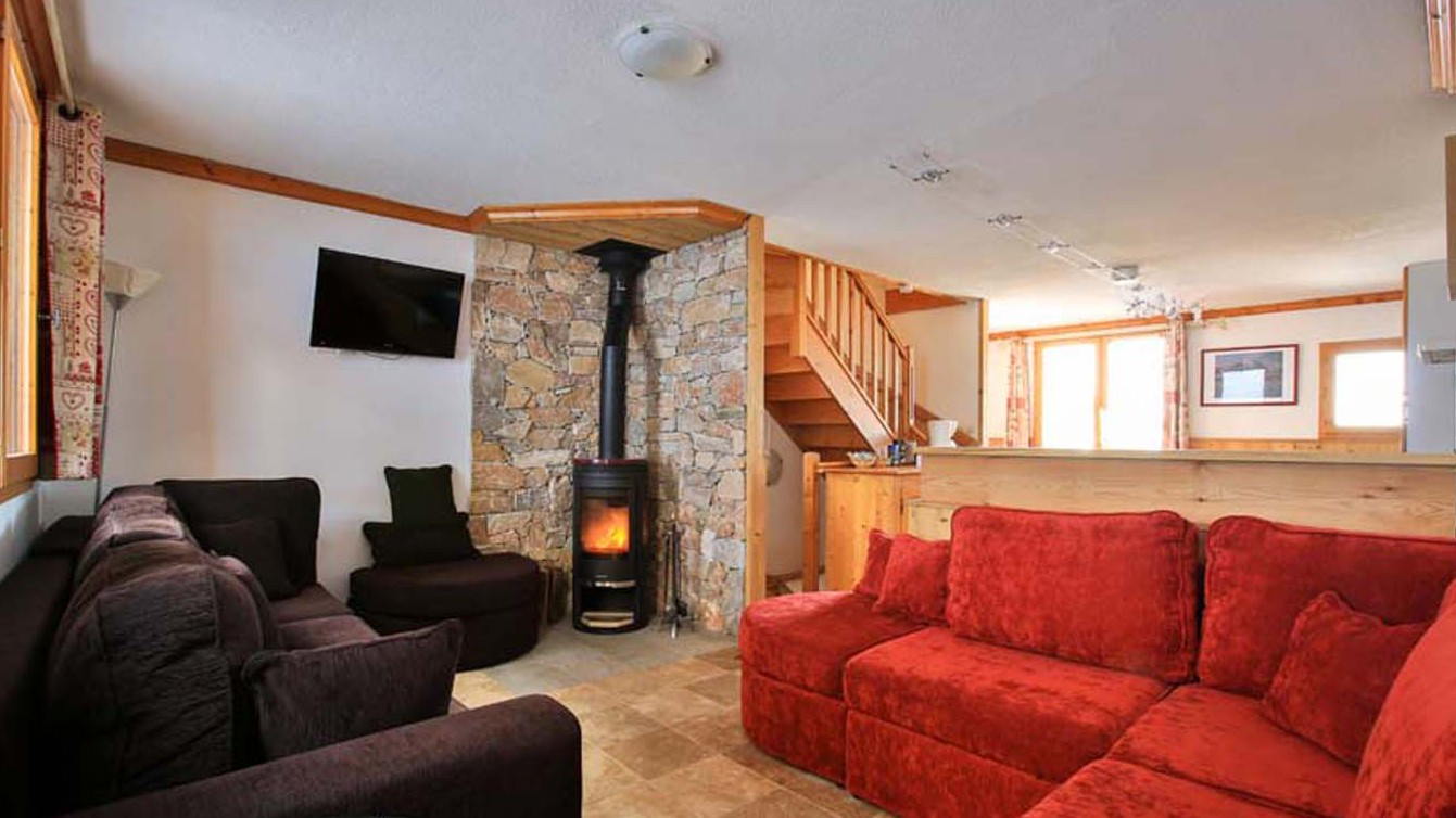 Living Area, Chalet Charmant, La Plagne, France