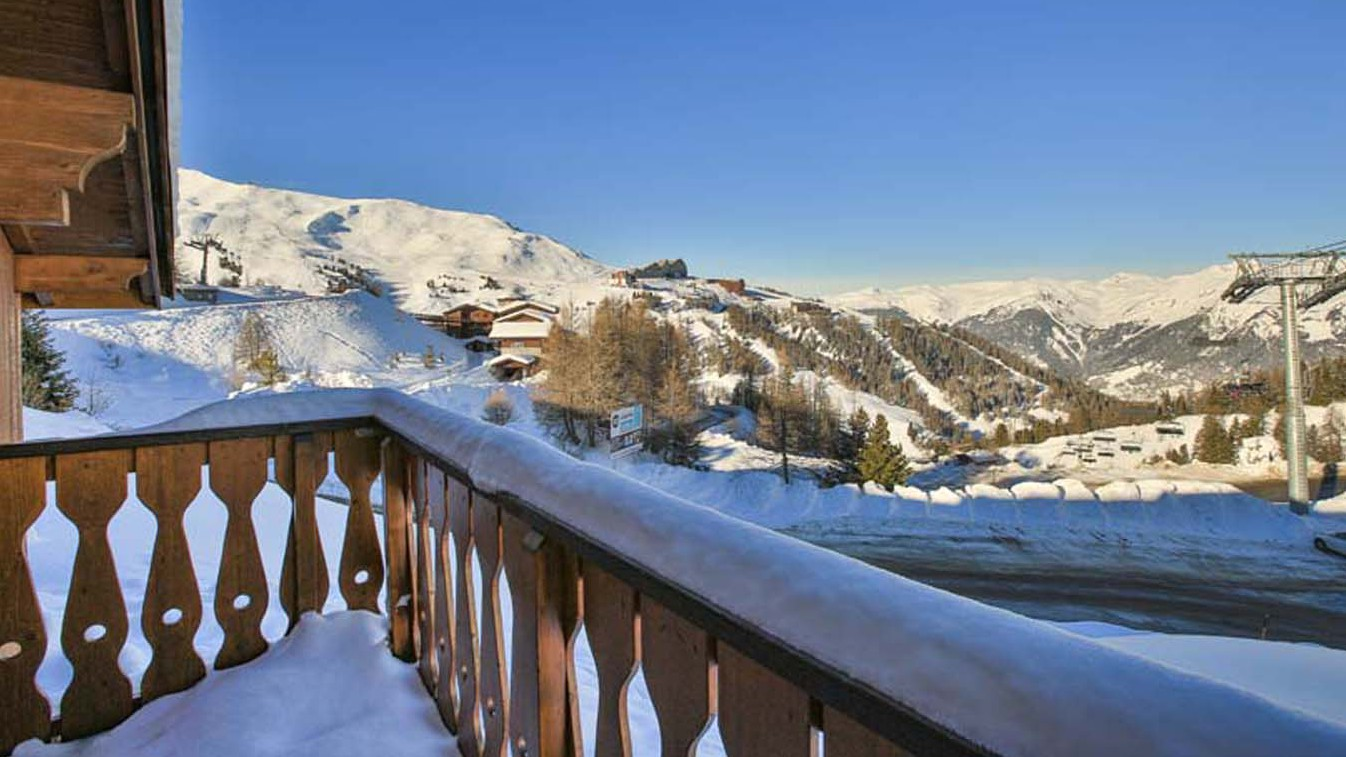 View from Chalet Charmant, La Plagne, France