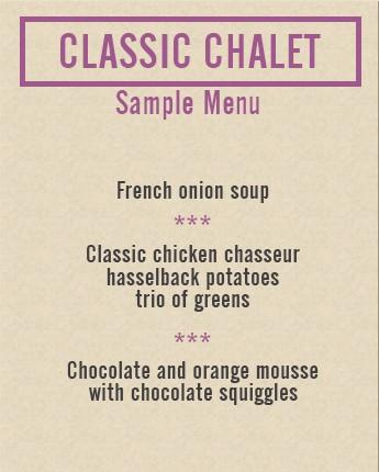 classic chalet sample menu