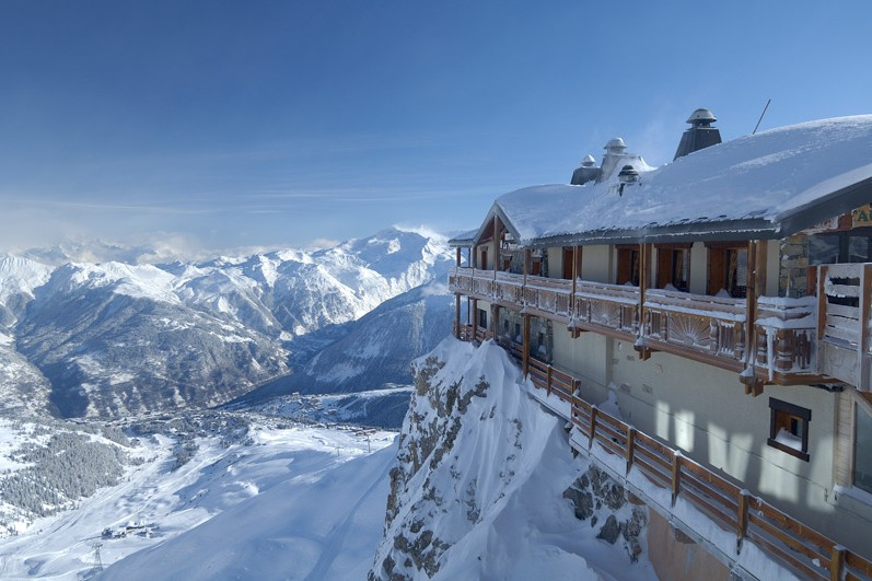 Spectacular views from a Courchevel restaurant, France