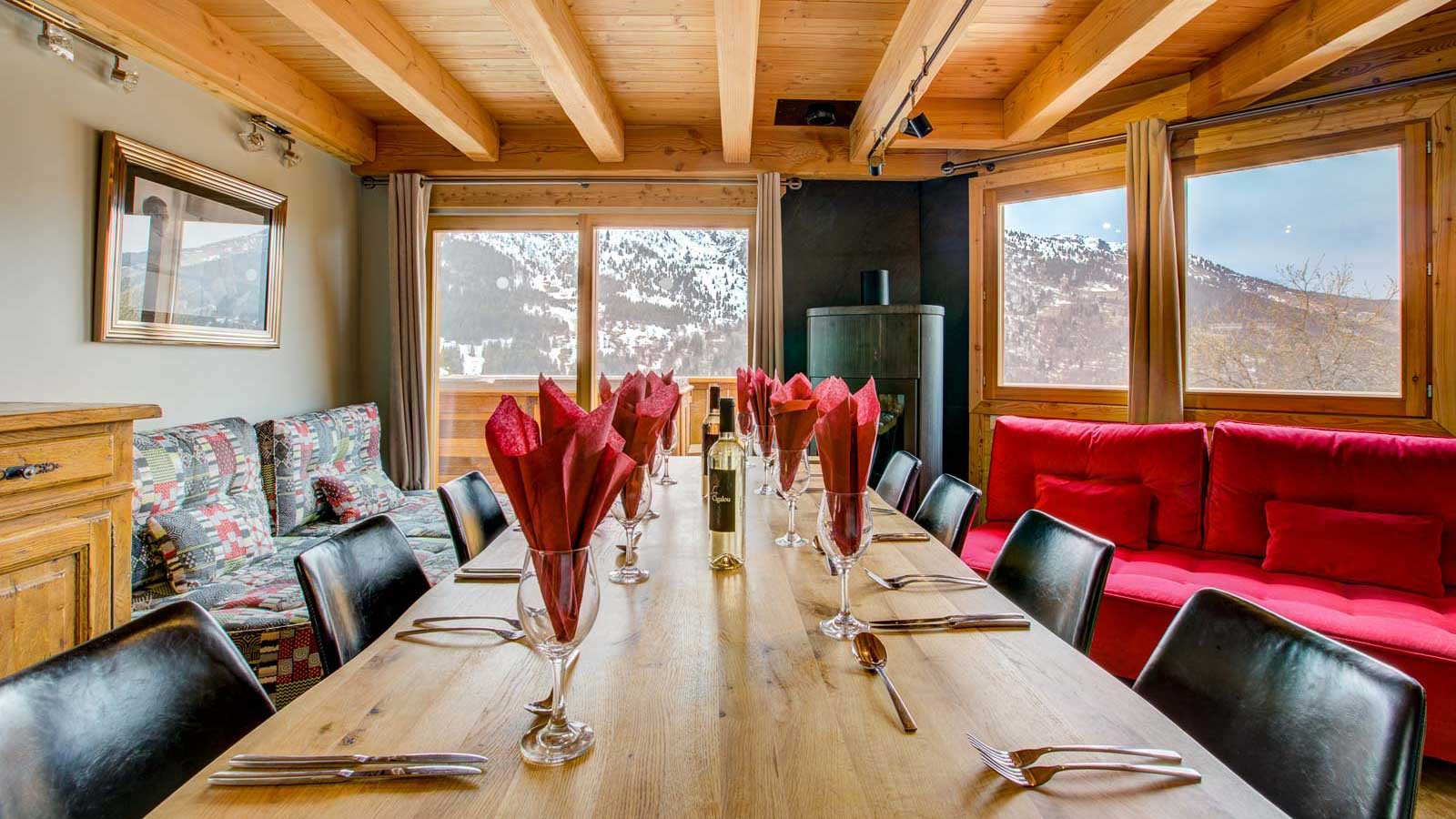 Dining table - Chalet Aline, Meribel