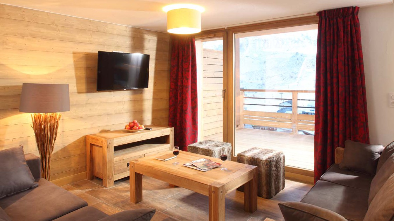 Living Room In Chalet Escamillo, Tignes, France