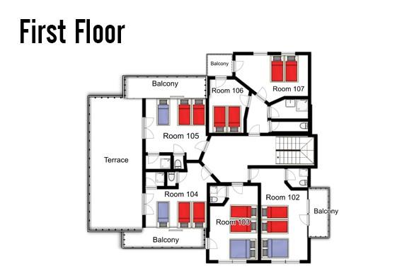 Floorplan of Chalet Stoanerhof, Mayrhofen, Austria, First Floor