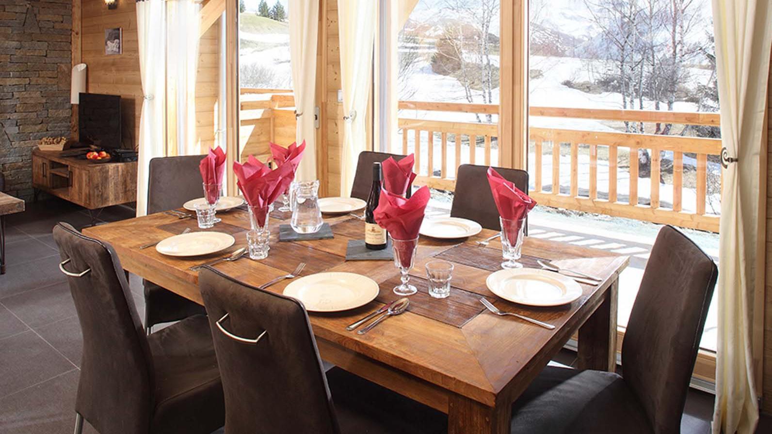 Dining Area, Chalet Friandise, Alpe D'Huez, France