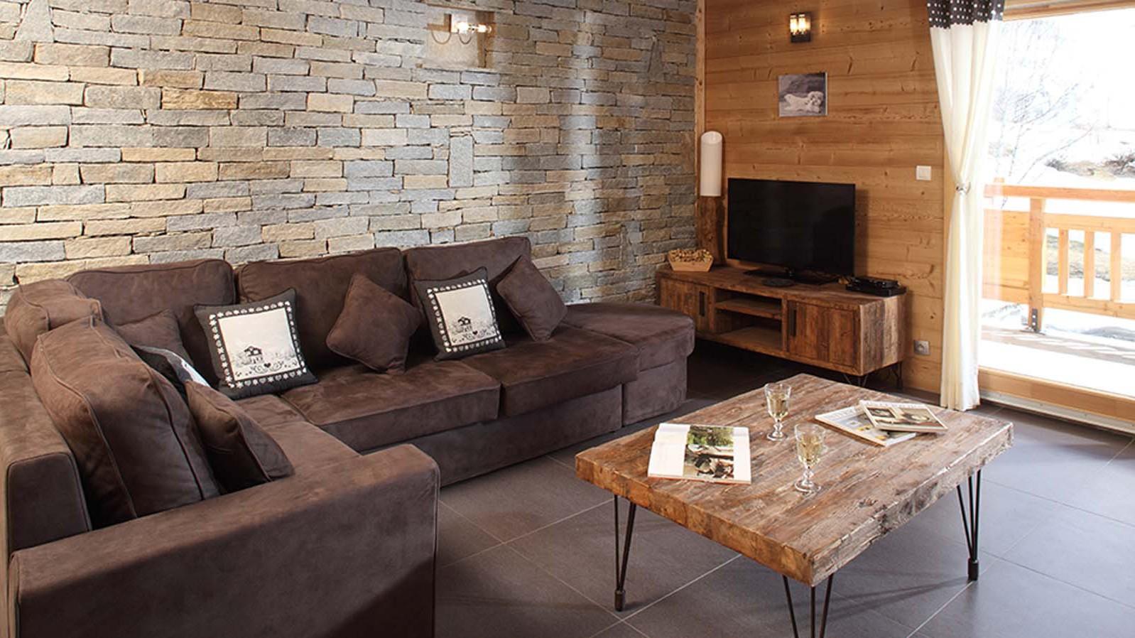 Lounge Area, Chalet Friandise, Alpe D'Huez, France