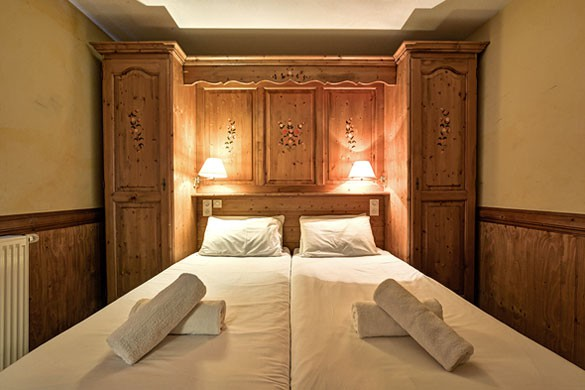 Chalet Chanterelle bedroom, La Plagne
