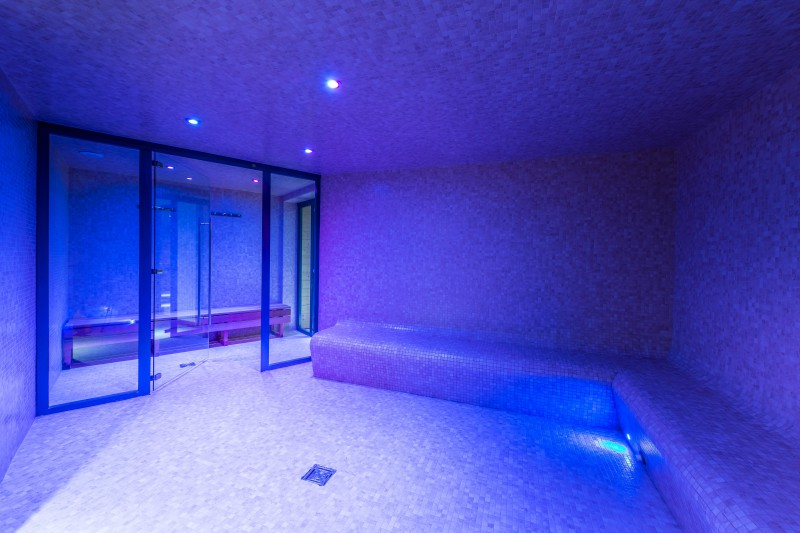 Shared hammam in Val 2400 building, Val Thorens, France