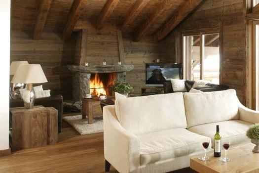 Chalet Hautes Cimes living area