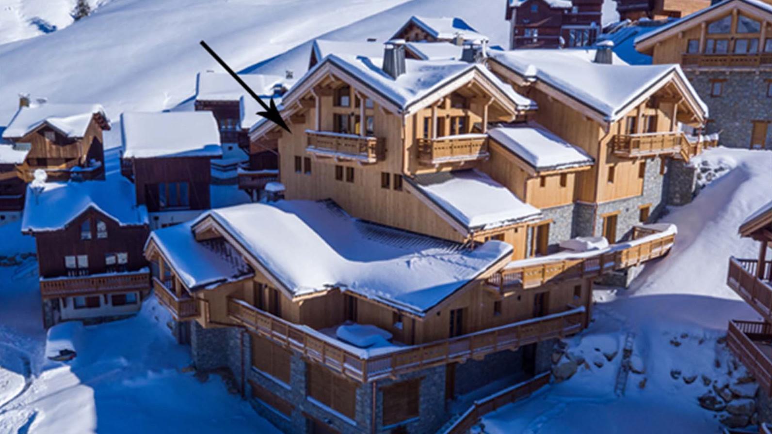 Arial Exterior - Chalet Hepatica - Ski Chalet in La Plagne, France