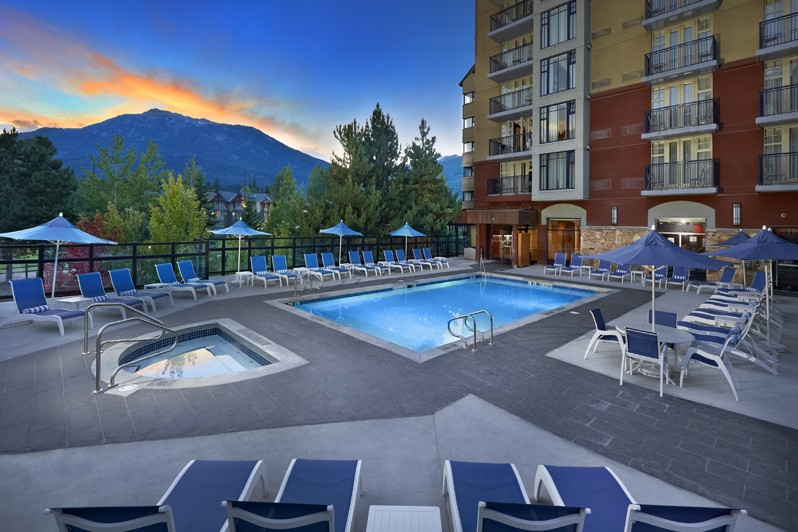 Swimming pool in the Hilton, Whistler