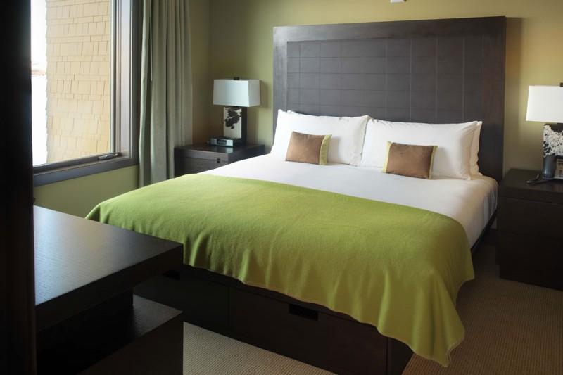 Hotel Terra bed, Jackson Hole