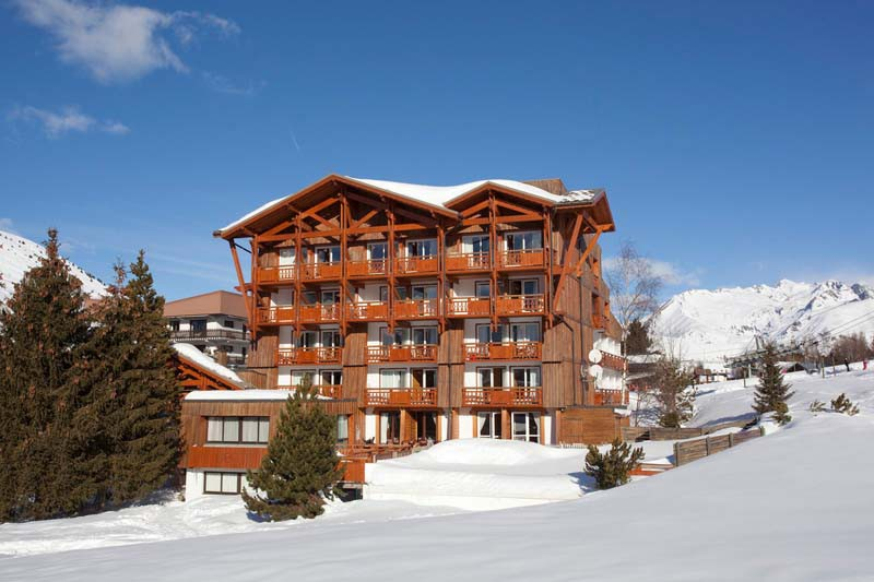 Exterior of Hotel Souleil'Or, Les Deux Alpes, France