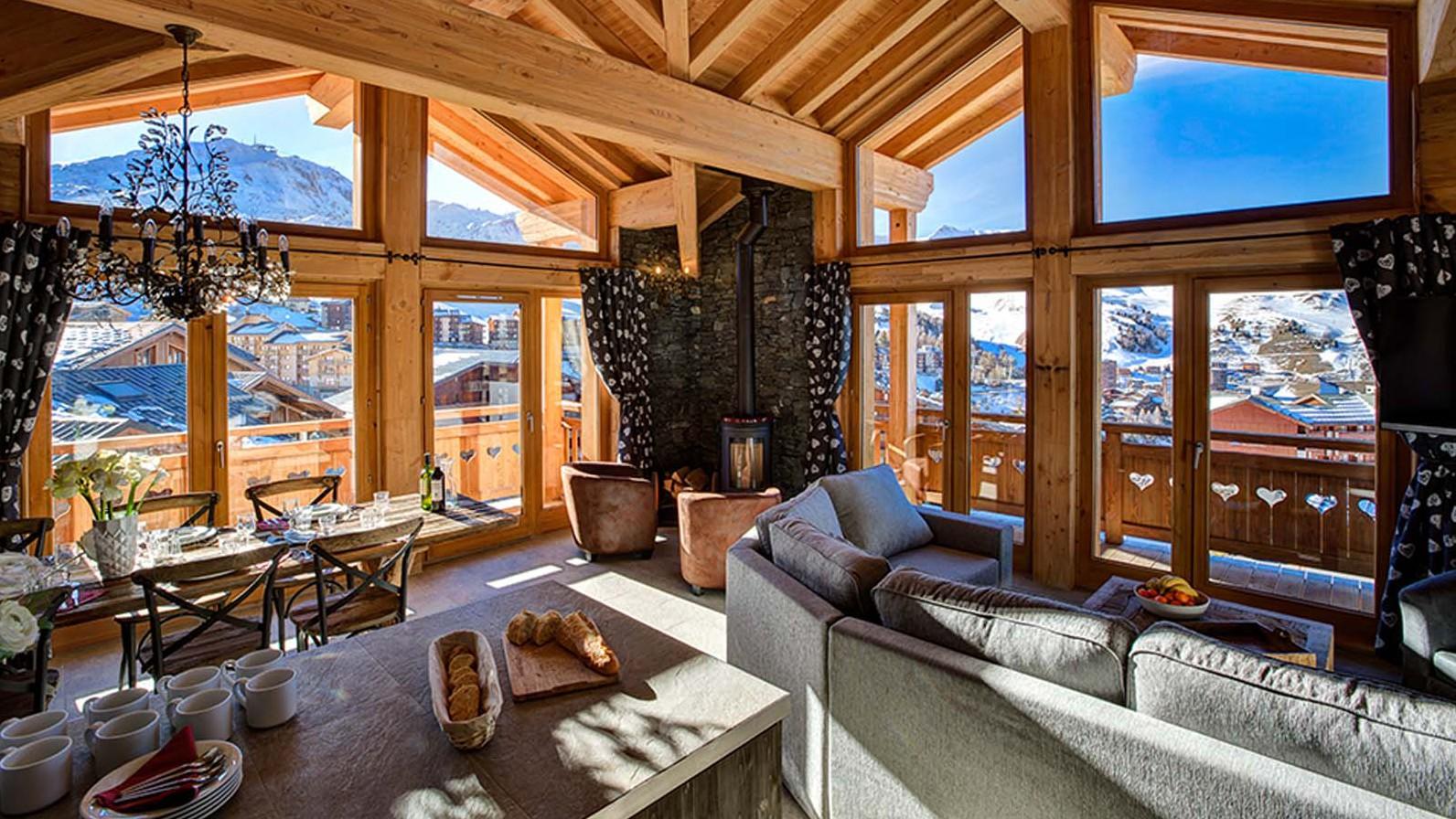 Lounge - Chalet Iris Bleu - Ski Chalet in La Plagne, France