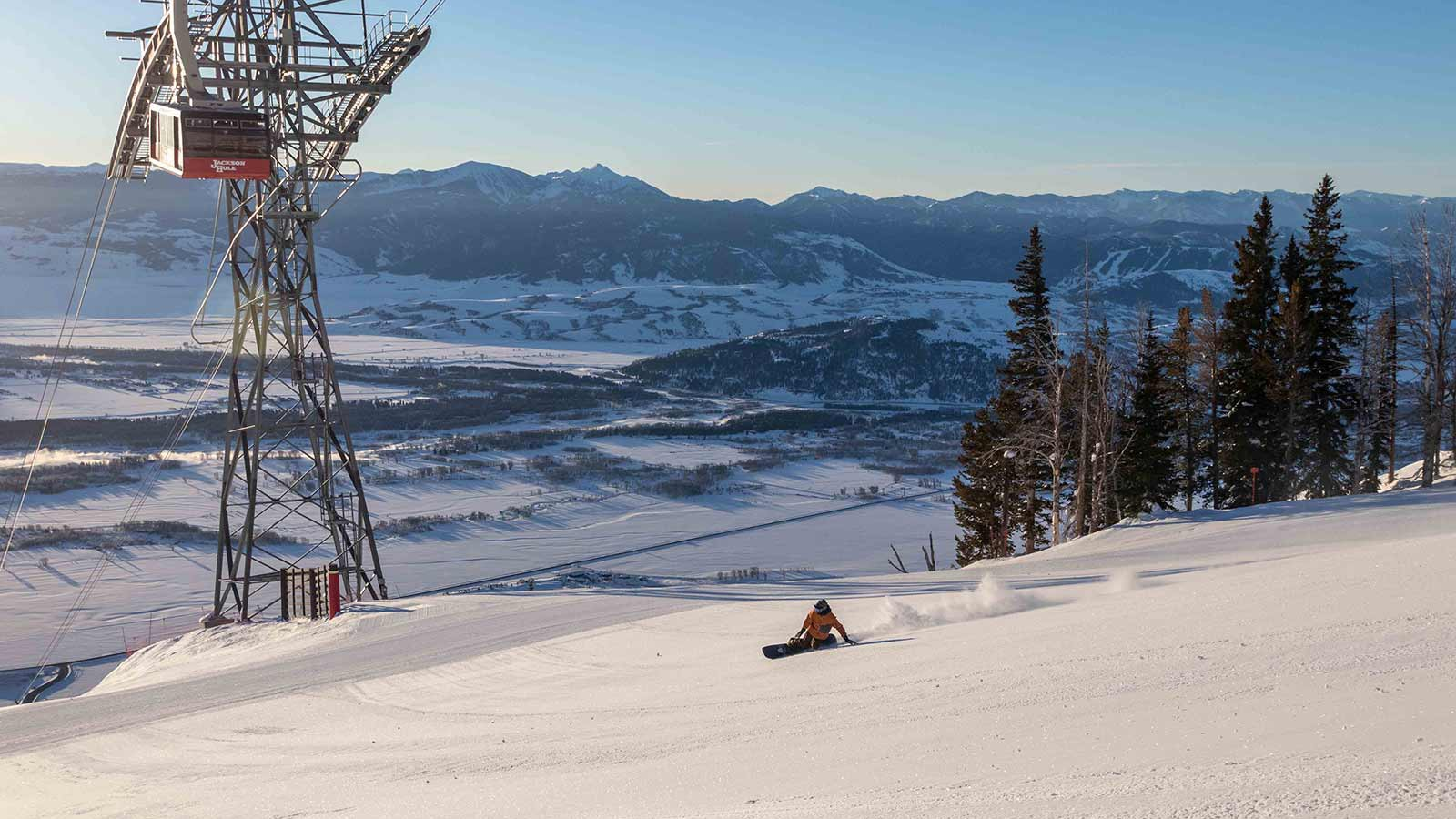 Jackson Hole Ski Resort, USA - Snowboarding