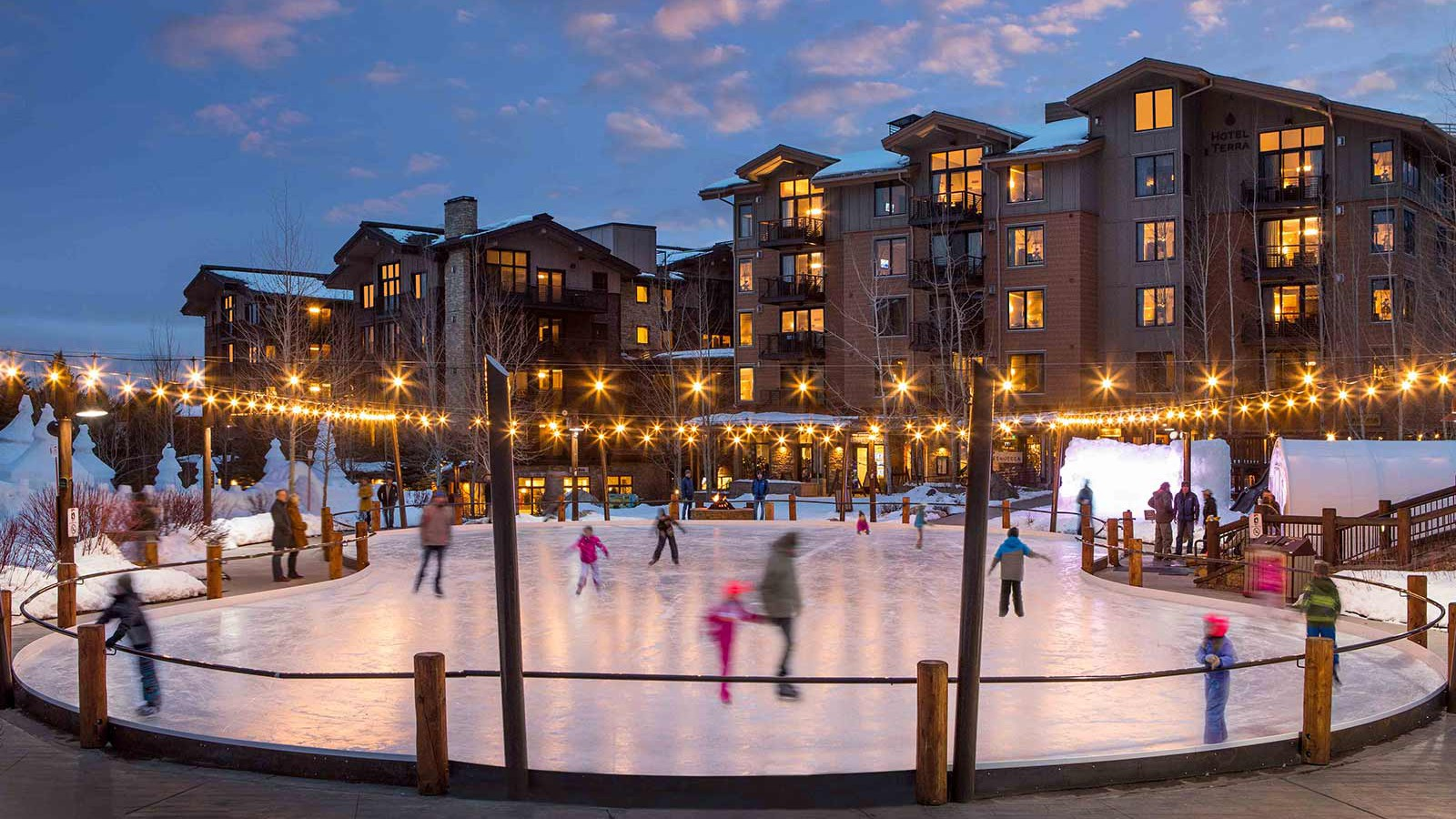 Jackson Hole Ski Resort, USA - Teton-Village Ice skating