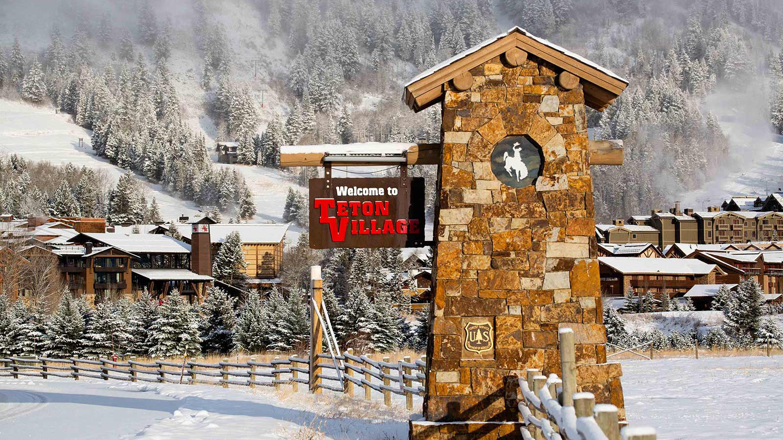 Jackson Hole Ski Resort, USA - Welcome sign