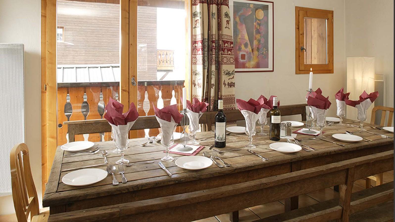 Dining Area, Chalet Joly, La Plagne, France