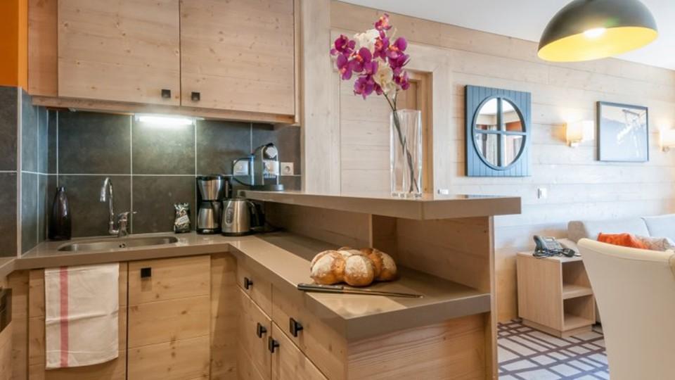 Kitchen, Residence Les Terrasses d'Helios